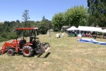 Tractor and party tents
