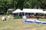 Party tents and kiddie pool