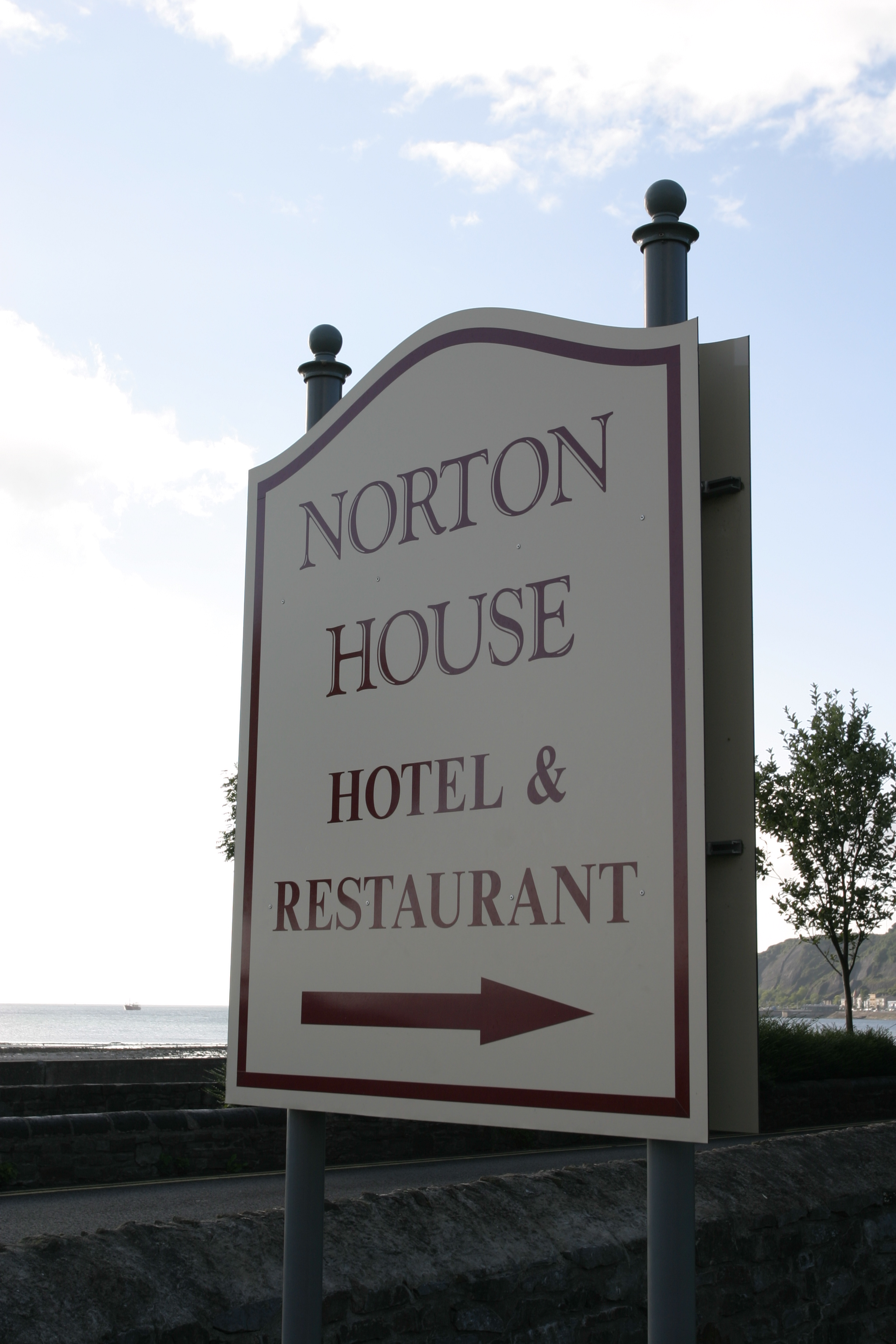 Norton House sign on Mumbles Rd.