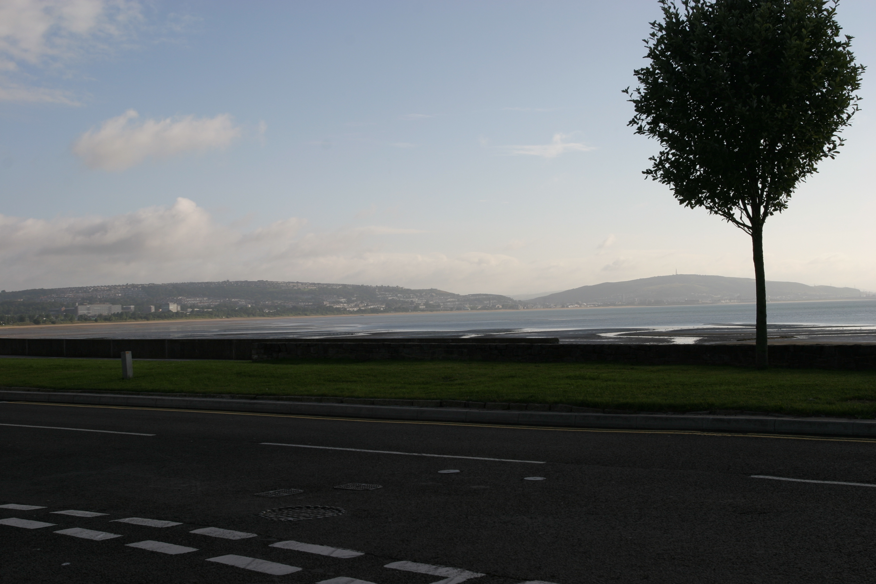 The bay from Mumbles Rd., parts of Swansea are in the background