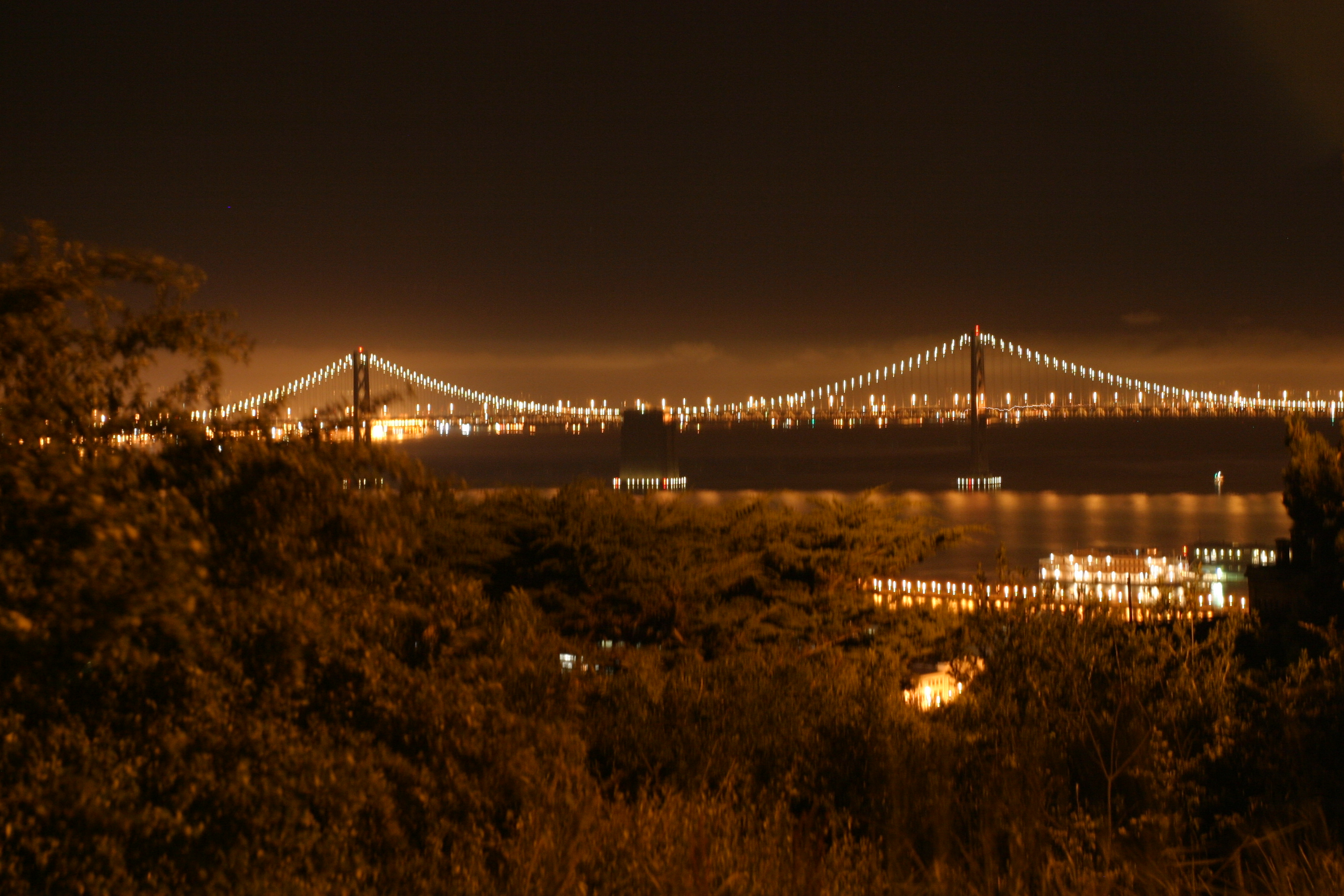 Glowing Bay Bridge